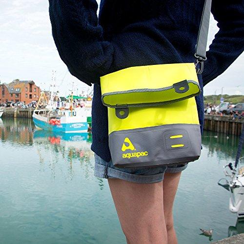 A Borsa Aquapac Tracolla Acid Tote Impermeabile grau Green Bag z5zAnE