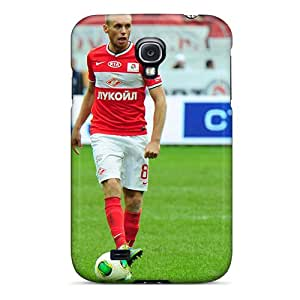 Galaxy S4 Hard Back With Bumper Silicone Gel Tpu Cases Covers Denis Glushakov Midfielder Spartak With Ball