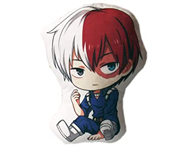 Shaobeiq Anime My Hero Academia Cartoon Cute Plush Pillow Todoroki Shoto Cosplay Stuffed Cushion Gift