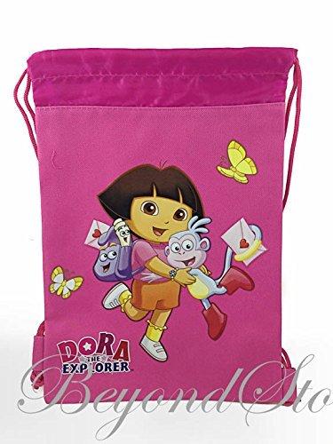 Dora The Explorer Pink Drawstring Backpack Tote Bag ()