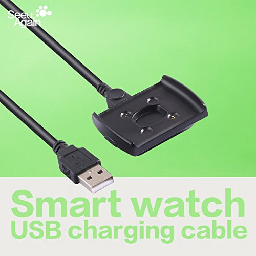 USB Charger Charging Cradle Dock Mount Station Data Charge Cable Cord Clip Power Adapter Replacement for Intel Basis Peak Fitness Sleep Tracker
