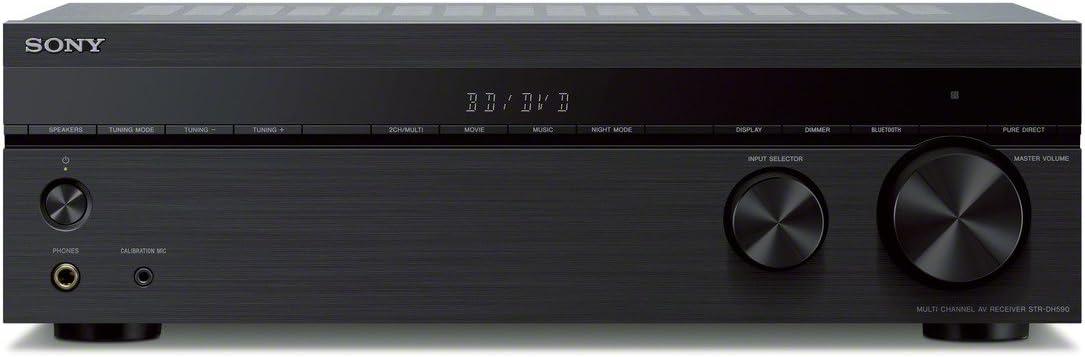 Sony STR-DH590 - Receptor AV (5.2 Canales, Bluetooth, Transferencia 4K, Dolby Vision), Color Negro