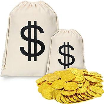 Amazon.com: Play Kreative monedas de oro de plástico – Fake ...