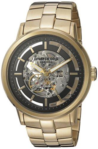 Reloj hombre KENNETH COLE modelo Automatics plateada y dorada - 10026787: Amazon.es: Relojes