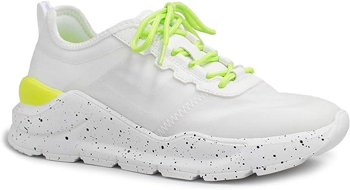 Zapatillas Mujer, Blanco y Verde 38: Amazon.es: Zapatos y complementos
