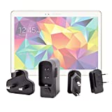 """Chargeur + Adaptateurs Internationaux pour tablettes tactiles Samsung Galaxy Tab S 10.5"""" Wi-Fi (SM-T800) et 4G & Wi-Fi (SM-T805) Android 4.4 Kitkat"""