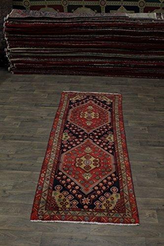4X10 Geometric S Antique Runner Meshkin Persian Style Rug Oriental Area Carpet 3ʹ7X9ʹ7