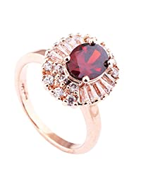 Acefeel New Design Elegant and Eye-catching Red SWAROVSKI ELEMENTS Crystal Oval Shape Ring R065