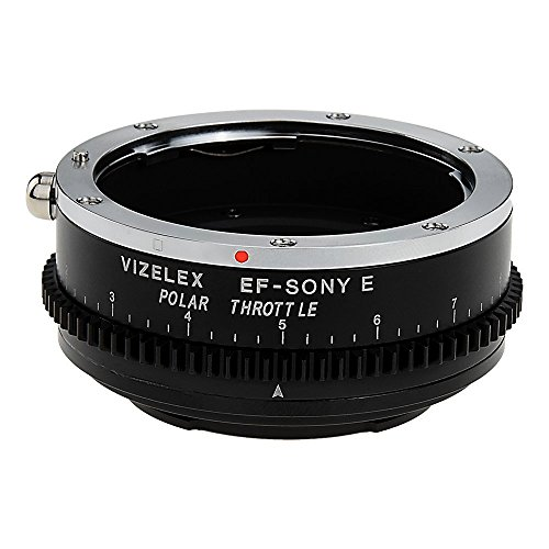 Vizelex Polar Throttle Lens Mount Adapter - Canon EOS (EF/EF-S) D/SLR Lens to Sony Alpha E-Mount Mirrorless Camera Body with Built-in Circular Polarizing Filter
