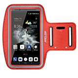 zte nubia mini - Melop Armband for ZTE Axon 7, 7 Max/Mini, Nubia nubia Z17 Z18 mini V18 N3 V9 Vita, Blade A3 A6 V9 X Z7 Z9 Mini, Soft Sports ArmBand with Key Holder and Card/Cash Pocket - Red