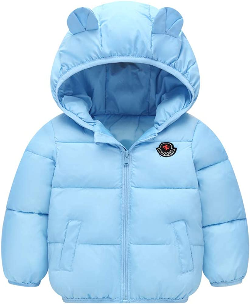 Minizone Kids Winter Jacket Hooded Warm Coat Waterproof Lightweight Tops Outfits