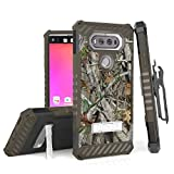 For LG V20, H910 (AT&T), H918 (T-Mobile), LS997 (Sprint), VS995 (Verizon),US996 TRI-SHIELD SERIES RUGGED KICKSTAND CASE + BELT CLIP HOLSTER [WITH CREDIT CARD SLOT & LANYARD] (Camo)