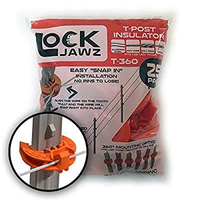 Lock Jawz T-360 Electric Fence T-Post Insulator