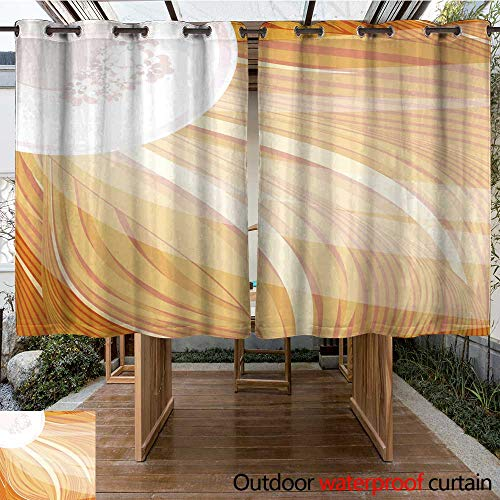 - RenteriaDecor Outdoor Ultraviolet Protective Curtains red Hair and White hat with Veil W108 x L72