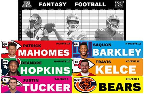 2019 Jumbo Fantasy Football Draft Board Kit