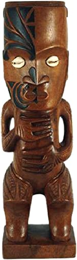 12 Hand Carved Wood Maori Teko Teko Tiki Statue