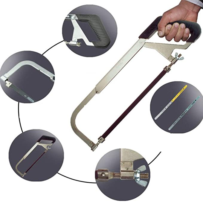 Sierra para metales de alta tensión con marco sólido (10 in / 255 mm * 98 mm): Amazon.es: Bricolaje y herramientas