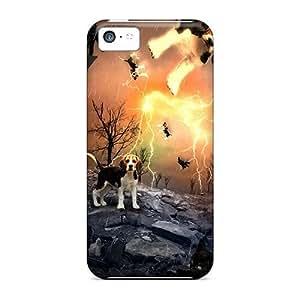 NdbAmbO2749JtYXf Case Cover, Fashionable Iphone 5c Case - Raining Cats Dogs