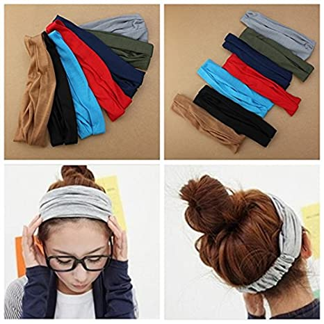 88e59f99296d Buy RVS Girls Hair Band Hairdressing Belt Wrap Head Scarf Headbrand-Parent  Online at Low Prices in India - Amazon.in