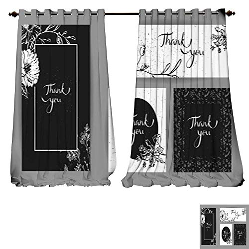 DESPKON-HOME Drapes for Living Room Thank You Posters
