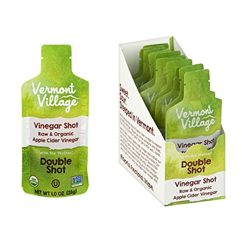 Vermont Village Organic Apple Cider Vinegar Double Shot (Pack of 12) made in New England