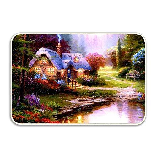 Beyond The Garden Gate Doormat 16x24 inch Entrance Rug Rubber Floor Mats Washable Doormat Shoe Scraper for Home