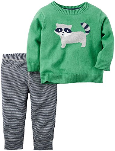 Carter's Baby Boys 2 Pc Sets, Green, 12 Months