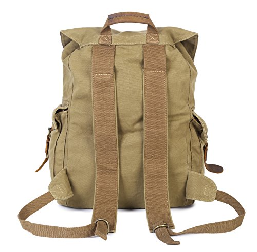 Paraffin Outdoor Canvas Backpack Hiking Camping Rucksack Heavy Duty Daypack School Backpack for Men and Women