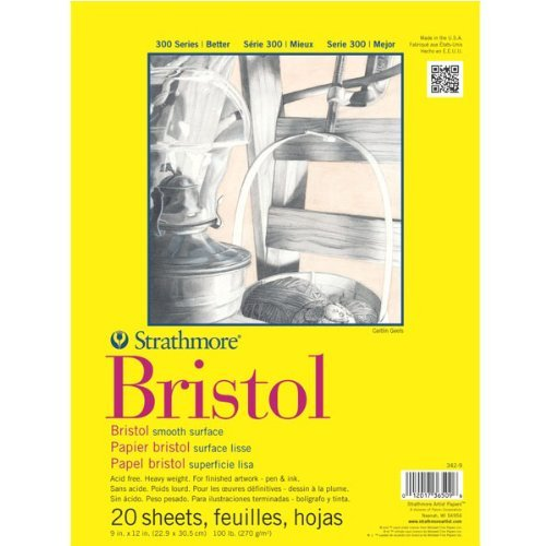 Strathmore Artist Papers 300 Series Bristol Board Paper Pad