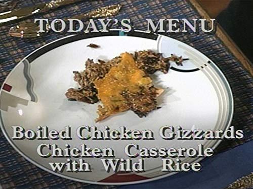 Boiled Chicken Gizzards & Chicken Casserole with Wild Rice