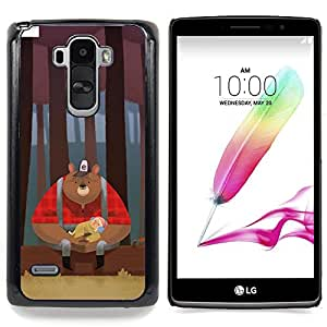 - Bear Woodsman Red Woods Brown - - Snap-On Rugged Hard Cover Case Funny HouseFOR LG G Stylo / LG LS770 / LG G4 Stylus