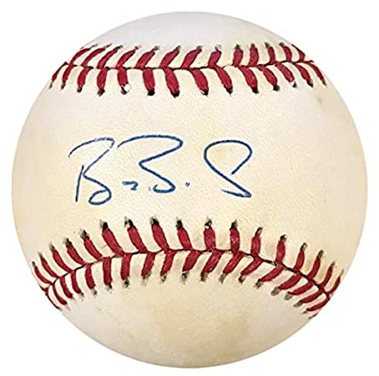 fe621d17823 Image Unavailable. Image not available for. Color  Barry Bonds Autographed  Baseball ...
