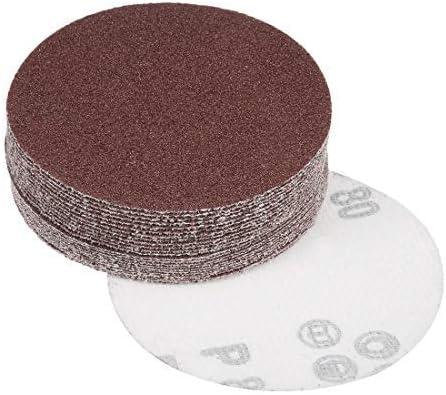 - 4-inch sanding disc, 80 grains, aluminum oxide sandpaper, with back sandpaper for sanders, 25 pieces