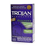 Trojan Pleasures Extended Pleasure Lubricated Latex Condoms-12 ct (Quantity of 3) Personal Healthcare / Health Care