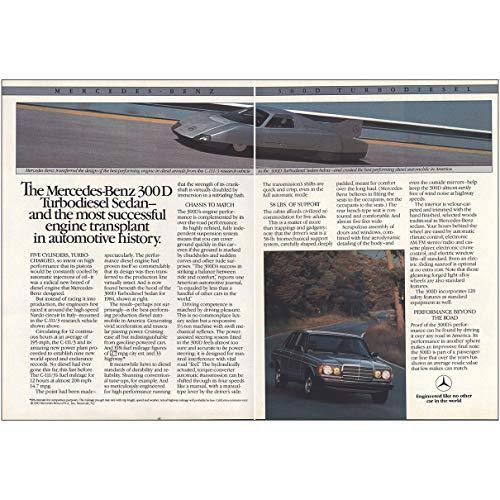 RelicPaper 1984 Mercedes Benz 300D: Turbodiesel Sedan, Mercedes Benz Print Ad