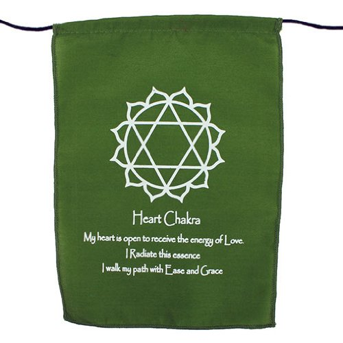 Fair Trade Bunting Rainbow Multi Colour Chakra Symbol /& Mantra Affirmation Prayer Flags