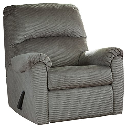 Ashley Furniture Signature Design - Bronwyn Swivel Glider Recliner - Contemporary Reclining Couch - Alloy Gray