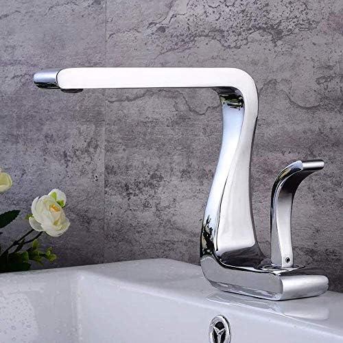 ShiSyan 立体水栓 万能水栓 美しい実用的な銅キッチン浴室トイレのシンクのヨーロッパスタイルのシンプルなファッション浴室の蛇口 混合水栓