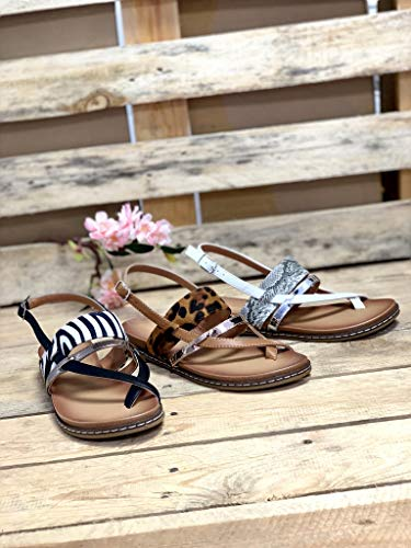 Angkorly rétro cm vintage à plat bride à bride la 5 brillant mode ouvert Sandales 1 confortable femme talon blanc multi rxwpr