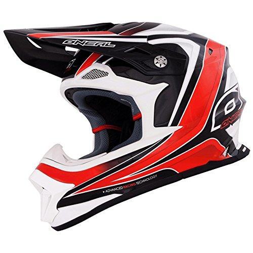 O'Neal 8Series RACE Helm Schwarz Rot MX Motocross Fullface Helmet, 0619R-3, Größe X-Large (61 - 62 cm)