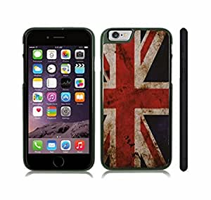 Case Cover For SamSung Galaxy S6 with U.K Antique Grunge Flag Snap-on Cover, Hard Carrying Case (Black)