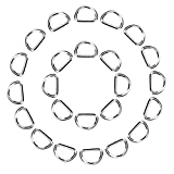 eBoot 100 Pack Metal D Ring, 1/2 Inch