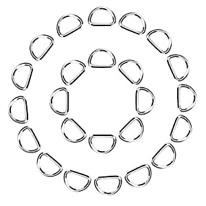 eBoot 100 Pack Metal D Ring, 1/ 2 Inch