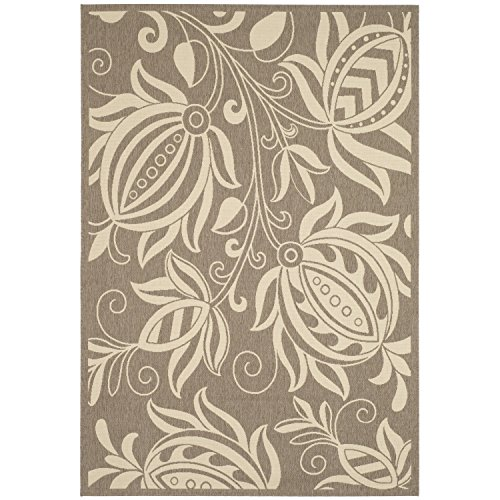 Safavieh Courtyard Collection CY2961-3009 Brown and Natural Indoor/ Outdoor Area Rug (9' x 12') (Tropical Rooms Living Inspired)