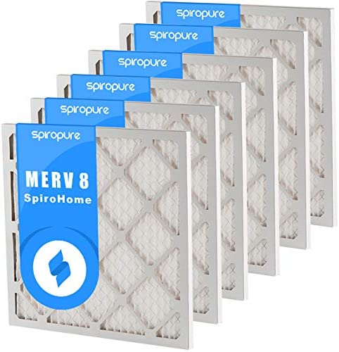 Made in USA SpiroPure 19X24X1 MERV 8 Pleated Air Filters 6 Pack