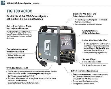 Team Welder TIG 180 AC/DC Wig Soldador inverter Set: Amazon.es: Industria, empresas y ciencia