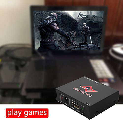 ELUTENG 4K HDMI Splitter 1 in 2 Out Ultra HD HDCP HDMI1.4 30HZ Switch 1x2 1080P 3D Compatible for PS4 PS3 Xbox Laptop Projector Amplifier by ELUTENG (Image #5)