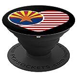 Arizona Flag PopSocket Grip Heart Design