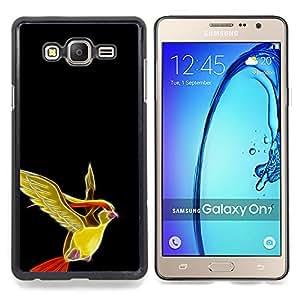 """Qstar Arte & diseño plástico duro Fundas Cover Cubre Hard Case Cover para Samsung Galaxy On7 O7 (Pájaro Pekemin"""")"""