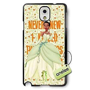 Disney Cartoon Princess and the frog Soft Rubber Phone Case for Samsung Galaxy Note 3 - Disney Princess Tiana Samsung Note 3 Case - Black